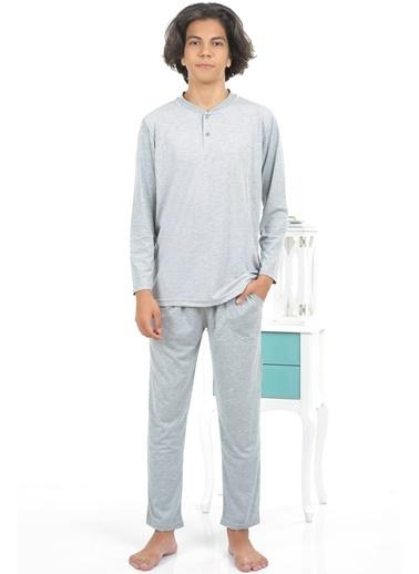 Akbeniz Erkek Pijama Takım Gri